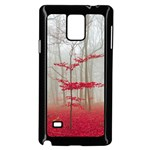 Magic forest in red and white Samsung Galaxy Note 4 Case (Black) Front