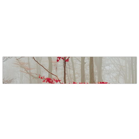 Magic forest in red and white Flano Scarf (Small)