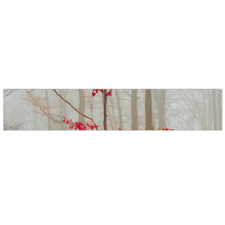 Magic forest in red and white Flano Scarf (Large)