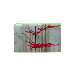 Magic Forest In Red And White Cosmetic Bag (xs)