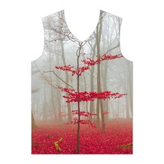 Magic forest in red and white Men s Basketball Tank Top