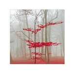 Magic forest in red and white Small Satin Scarf (Square) Front