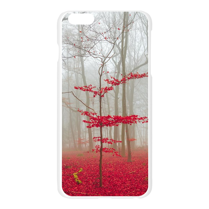 Magic forest in red and white Apple Seamless iPhone 6 Plus/6S Plus Case (Transparent)