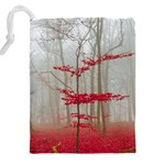 Magic forest in red and white Drawstring Pouches (XXL) Back