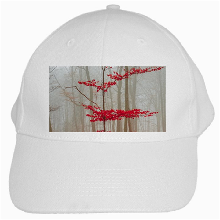 Magic Forest In Red And White White Cap