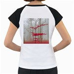 Magic Forest In Red And White Women s Cap Sleeve T Back