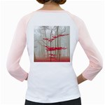 Magic Forest In Red And White Girly Raglans Back