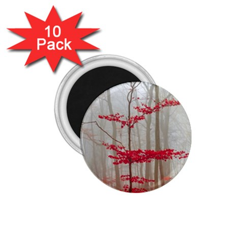 Magic Forest In Red And White 1.75  Magnets (10 pack)