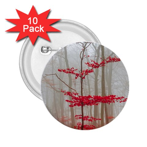 Magic Forest In Red And White 2.25  Buttons (10 pack)