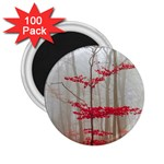 Magic Forest In Red And White 2.25  Magnets (100 pack)  Front