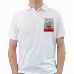 Magic Forest In Red And White Golf Shirts