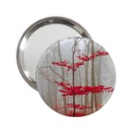 Magic Forest In Red And White 2.25  Handbag Mirrors Front