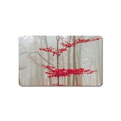 Magic Forest In Red And White Magnet (name Card)