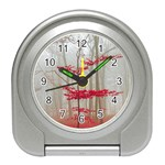Magic Forest In Red And White Travel Alarm Clocks Front