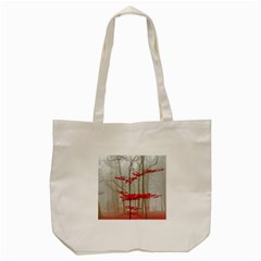 Magic Forest In Red And White Tote Bag (cream)