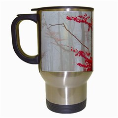 Magic Forest In Red And White Travel Mugs (White)