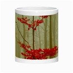 Magic Forest In Red And White Night Luminous Mugs Center