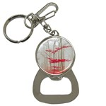 Magic Forest In Red And White Bottle Opener Key Chains Front