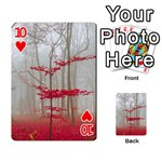 Magic Forest In Red And White Playing Cards 54 Designs  Front - Heart10