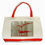 Magic Forest In Red And White Classic Tote Bag (Red) Front