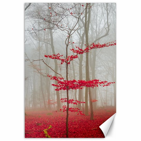 Magic Forest In Red And White Canvas 20  x 30
