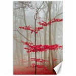 Magic Forest In Red And White Canvas 24  x 36  36 x24 Canvas - 1