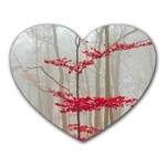 Magic Forest In Red And White Heart Mousepads Front