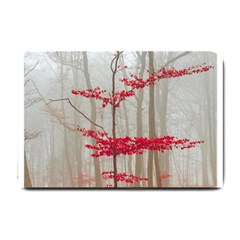 Magic Forest In Red And White Small Doormat