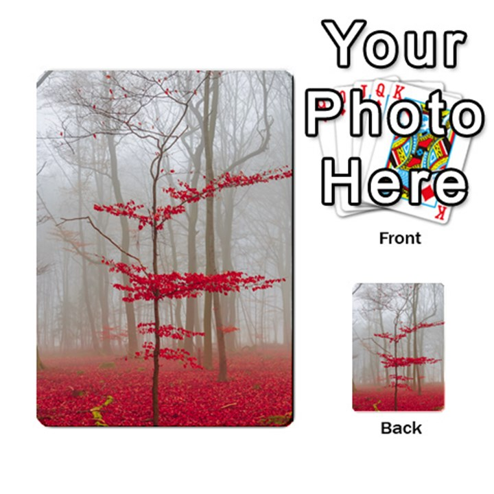 Magic Forest In Red And White Multi-purpose Cards (Rectangle)