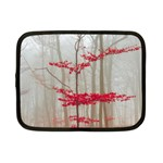 Magic Forest In Red And White Netbook Case (Small)  Front
