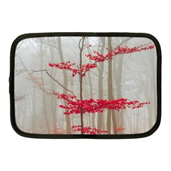 Magic Forest In Red And White Netbook Case (medium)