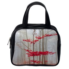 Magic Forest In Red And White Classic Handbags (one Side)