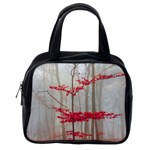 Magic Forest In Red And White Classic Handbags (One Side) Front