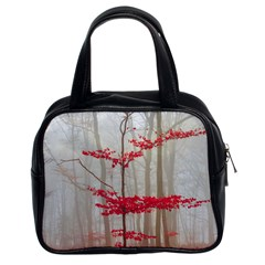 Magic Forest In Red And White Classic Handbags (2 Sides)