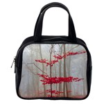 Magic Forest In Red And White Classic Handbags (2 Sides) Back