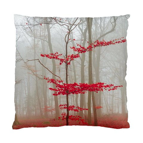 Magic Forest In Red And White Standard Cushion Case (One Side)