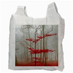 Magic Forest In Red And White Recycle Bag (Two Side)  Back