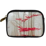 Magic Forest In Red And White Digital Camera Cases Front