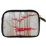 Magic Forest In Red And White Digital Camera Cases Back
