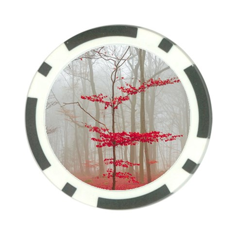Magic Forest In Red And White Poker Chip Card Guards (10 pack)