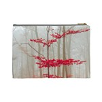 Magic Forest In Red And White Cosmetic Bag (Large)  Back