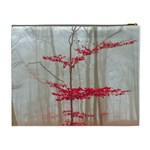 Magic Forest In Red And White Cosmetic Bag (XL) Back