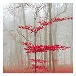 Magic Forest In Red And White Small Memo Pads 3.75 x3.75  Memopad