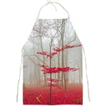 Magic Forest In Red And White Full Print Aprons Front