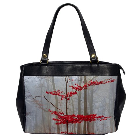 Magic Forest In Red And White Office Handbags