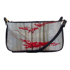 Magic Forest In Red And White Shoulder Clutch Bags