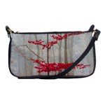 Magic Forest In Red And White Shoulder Clutch Bags Front
