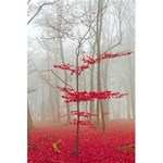 Magic Forest In Red And White 5.5  x 8.5  Notebooks Back Cover