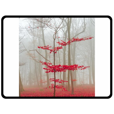 Magic Forest In Red And White Fleece Blanket (Large)
