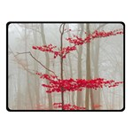 Magic Forest In Red And White Fleece Blanket (Small) 50 x40 Blanket Front